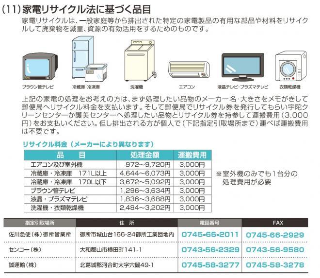 電化製品 リサイクル 奈良